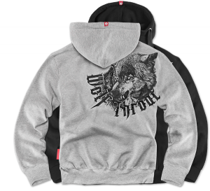 "Mikina,zip ""Wolf Throat"""